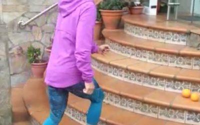 Exercicios nas escaleiras por Chus Sangüos-devellabella
