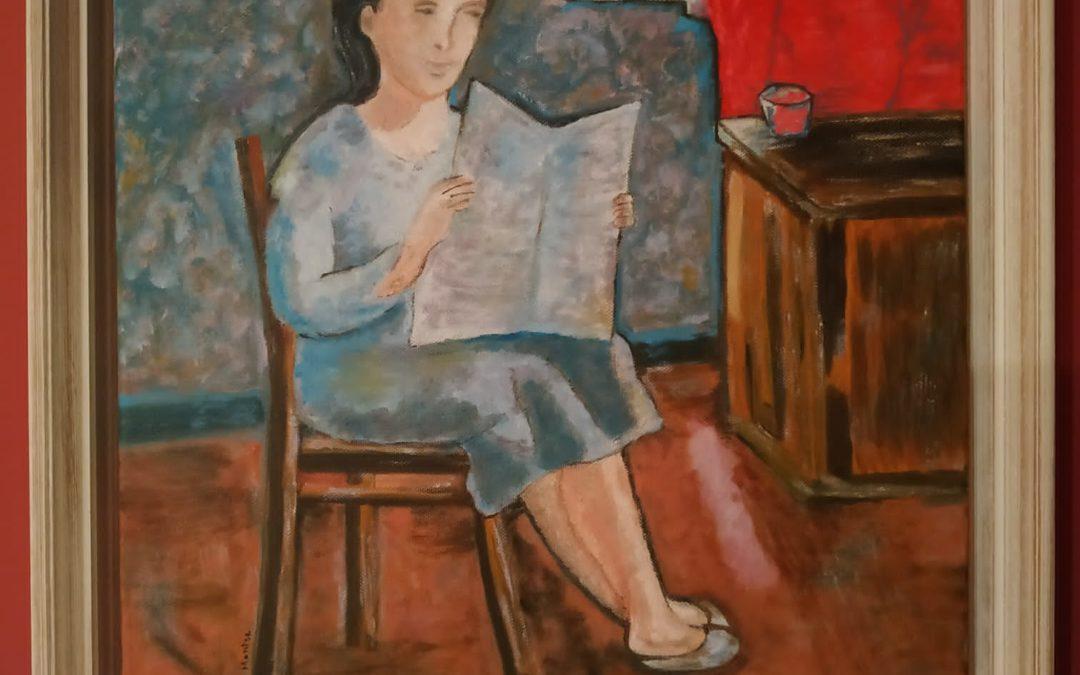 «Muller lendo nun interior con luz natural» de Montse Sanmartín