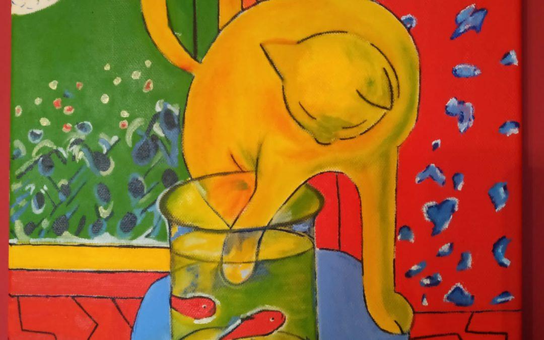 O gato de peixes vermellos por Montse Sanmartín
