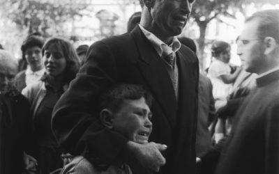 O home e o neno. Retrato da emigración por Selo Blanco